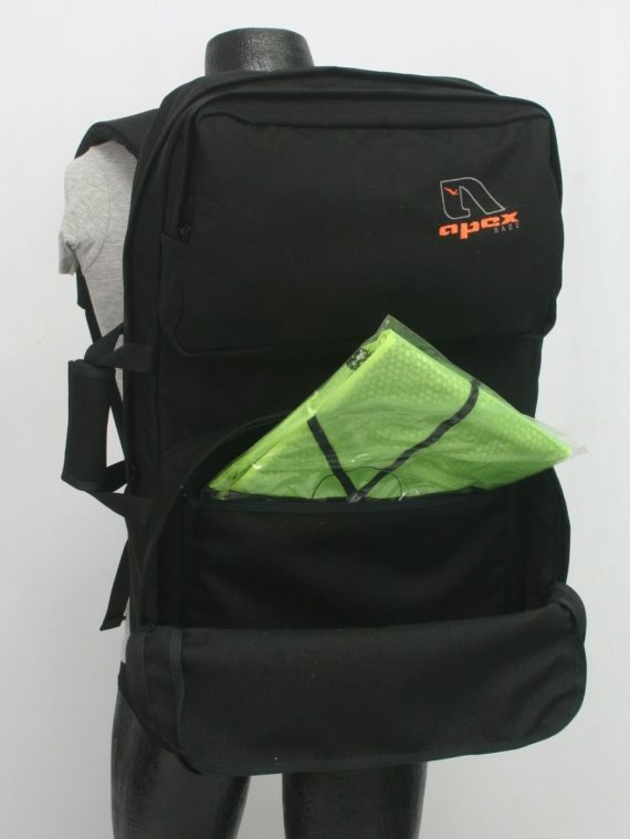 BASE gear and accessory bag inside