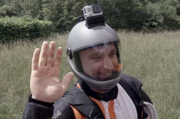 Steve Wingsuit After Landing